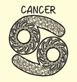 cartoon Cancer sign zodiac vector image