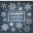 chalkboard set snowflakes vector image vector image