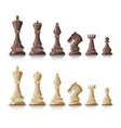 chess figures dark and bright on white background vector image