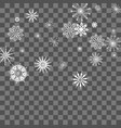 christmas and new year background with snowflakes vector image vector image