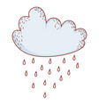 cloud raining cartoon vector image