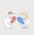 competition boxing challenge fighting rivalry vector image