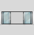 contemporary sliding door vector image vector image