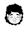 contour old woman face with hairstyle and vector image vector image