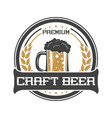 craft beer vintage isolated sticker vector image vector image