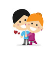 cute couple in love on a white background vector image vector image