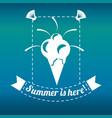 Delicious ice cream for celebrate summer vacations vector image