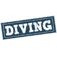 diving sign or stamp vector image
