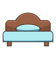Double bed icon cartoon style