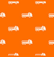 dumper truck pattern seamless vector image vector image