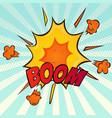 explosion retro comic cartoon icon vector image vector image