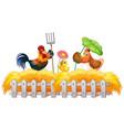 farm theme background with farm animals vector image vector image