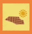 flat shading style icon solar panels vector image vector image