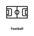 football line icon vector image vector image