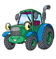 Funny small tractor with eyes