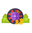 gambling concept flat design vector image vector image