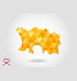 geometric polygonal style map of jersey low poly vector image vector image