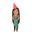 girl cartoon character vector image