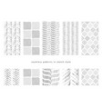 grayscale abstract seamless patterns vector image