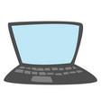 grey laptop on white background vector image