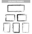 grunge dot frames set vector image vector image