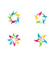 hand care logo template vector image vector image
