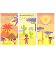 international day african child placards set vector image