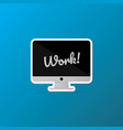 isolated desktop computer icon lettering quote on vector image