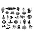 isolated icons for halloween holiday party vector image vector image