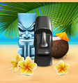 kahuna hawaiian beach composition vector image vector image