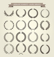 laurel wreaths set in different style vector image vector image