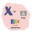 letter x for children alphabet vector image