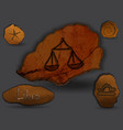 librazodiac in the form of cave painting vector image vector image