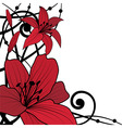 lily red background vector image vector image