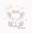 little elephant girl for kids vector image vector image