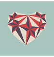 low poly heart symbol vector image vector image
