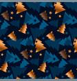 luxury happy xmas tree seamless pattern vector image vector image