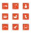 make a playground icons set grunge style vector image