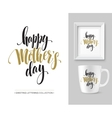 Mothers Day hand lettering collection Mock-up vector image vector image
