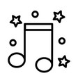 music icon on white background vector image vector image