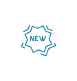 new brand linear icon concept new brand line vector image vector image