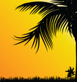 palm tree for background black vector image vector image