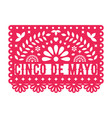 papel picado greeting card with floral and vector image vector image