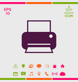 print icon for web vector image vector image