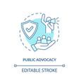 public advocacy concept icon