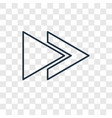 rewind concept linear icon isolated on vector image