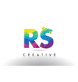 rs r s colorful letter origami triangles design