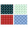 seamless modern lumberjack pattern vector image