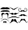 set different mustaches vector image