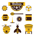 set for apiary vector image